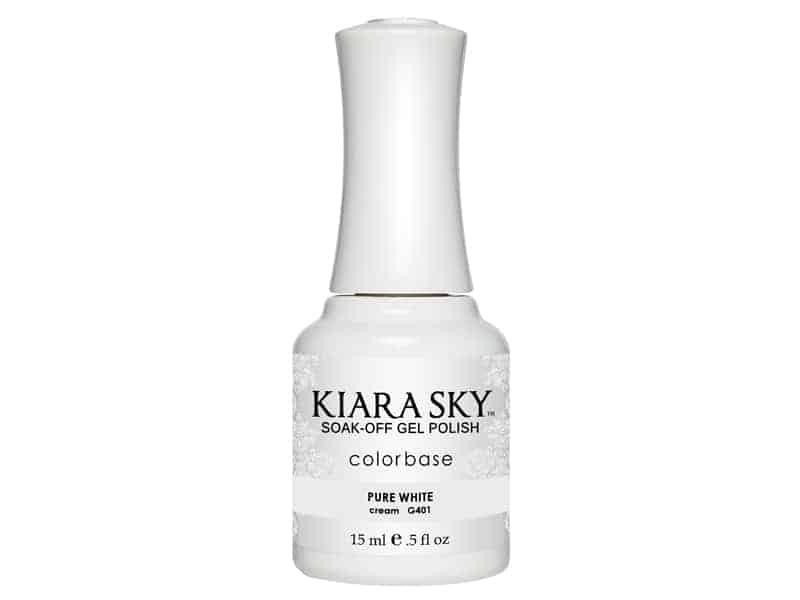 Kiara Sky Soak-off Gel Nail Polish Kiara Sky Soak-off Gel Nail Polish G401 PURE WHITE